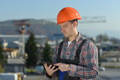 Engineer at construction site Royalty Free Stock Image