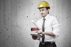 Engineer on construction site Royalty Free Stock Images