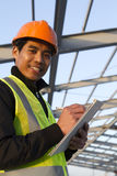 Engineer construction under new building Royalty Free Stock Photography