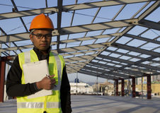 Engineer construction under new building site Royalty Free Stock Images