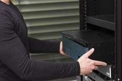 Install Network Router Stock Image