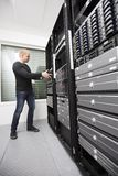 Install Network Router in Datacenter Stock Image