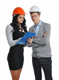 Engineer and contractor royalty free stock photos