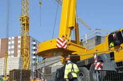 Engineer, crane and building-site Stock Image