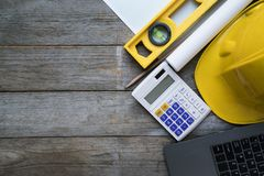Engineer desk background ,project ideas concept Stock Photography