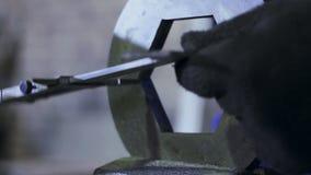 Engineer detail measure caliper. HD stock footage