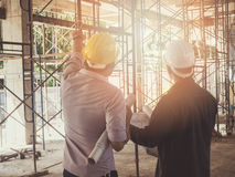 Engineer discussing with foreman about project Stock Photography