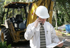 Engineer Discussing Plans Stock Photography