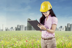 Engineer doing environment survey 1 Stock Photos