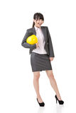 Engineer, entrepreneur or architect asian business woman Royalty Free Stock Photo