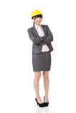 Engineer, entrepreneur or architect asian business woman Royalty Free Stock Image