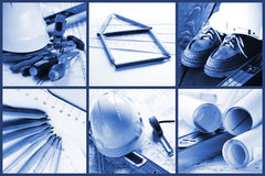 Engineer equipment - collage Stock Photography