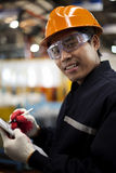 Engineer in factory Stock Photos
