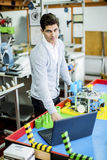 Engineer in the factory Stock Images