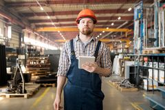 Engineer in factory royalty free stock photo