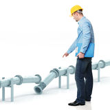 Engineer find problem Stock Photography