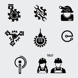 Engineer flat icon set Royalty Free Stock Photography