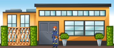 An engineer in front of a new building Royalty Free Stock Image