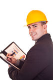 Engineer with graphics Royalty Free Stock Photos