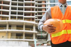 Engineer with a hardhat Stock Image