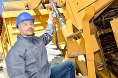 Engineer has to manage crane stock image