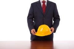 Engineer helmet Stock Images
