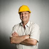 Engineer in helmet Royalty Free Stock Image