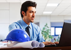 Engineer in his office Stock Photos