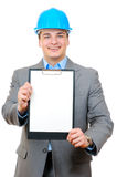 Engineer holding clipboard Stock Images
