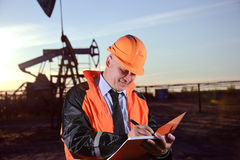 Engineer In An Oil Field Stock Images