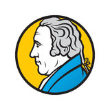 Engineer and inventor James Watt. Branding identity corporate logo isolated on white background Royalty Free Stock Images