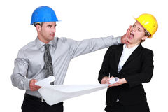 Free Engineer Jealous Of His Colleague Royalty Free Stock Image - 28010236