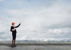 engineer kvinnlign fotografering för bildbyråer