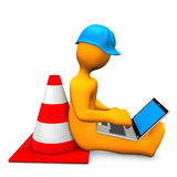 Engineer Laptop Royalty Free Stock Photography