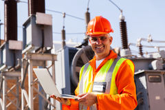 Engineer with laptop Stock Photography