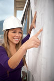 Engineer looking at blueprints Royalty Free Stock Photography