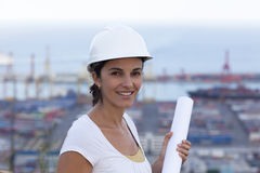 Engineer looking into the camera Stock Images