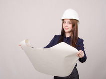Engineer looking project Stock Image