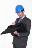 Engineer looking for something Stock Photos