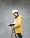 Engineer make plans Stock Image