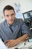 Engineer making data recovery from hard drive Royalty Free Stock Photos