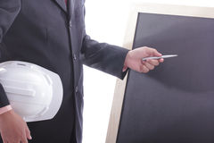 Engineer making discussion and presentation Stock Image