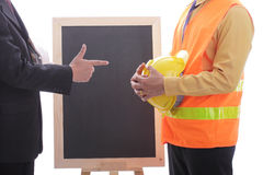 Engineer making discussion and presentation Stock Images