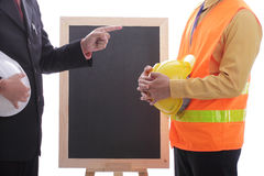 Engineer making discussion and presentation Royalty Free Stock Photos