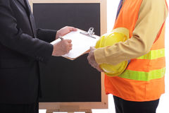 Engineer making discussion and presentation Royalty Free Stock Image