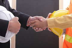 Engineer making success discussion and presentation Royalty Free Stock Photo