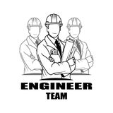 Vector illustration Engineer Man. Engineer Man Logo. Engineer Man. Engineer Man Logo. Engineer Man Silhouette. Engineer Man Illustration. Engineer Man Vector Stock Images