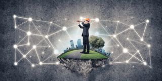 Concept of modern wireless technologies as effective tool for bu Stock Image