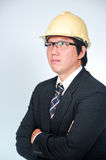 Engineer Manager. With concept working Stock Photo