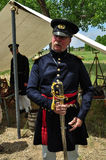 Engineer military soldier during annual Bent`s Fort reenactment Stock Photography
